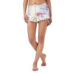 B by Ted Baker - Multi-coloured 'Hanging Gardens' print pyjama shorts