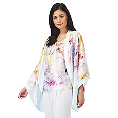 B by Ted Baker - Multi-coloured 'Hanging Gardens' print short kimono