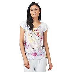 B by Ted Baker - Multi-coloured 'Hanging Gardens' short sleeved pyjama top