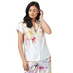 B by Ted Baker - Multi-coloured 'Hanging Gardens' short sleeve pyjama shirt