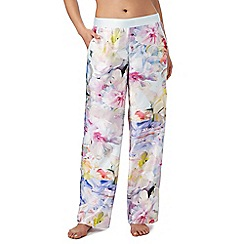 B by Ted Baker - Multi-coloured 'Hanging Gardens' print pyjama bottoms