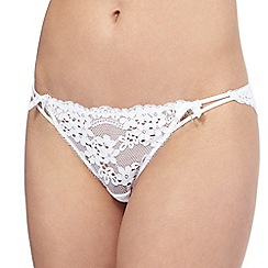 Floozie by Frost French - White 'Daisy' lace Brazilian knickers