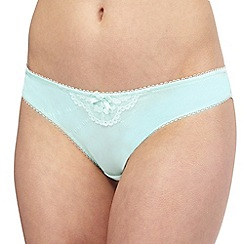 Floozie by Frost French - Light green lace Brazilian knickers