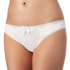 Reger by Janet Reger - Cream lace detail 'Isobel' Brazilian knickers