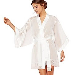 Reger by Janet Reger - Ivory lace bridal kimono gown