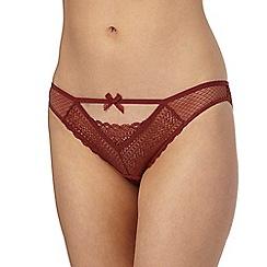 Nine by Savannah Miller - Dark orange lace bikini knickers
