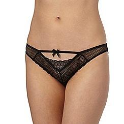 Nine by Savannah Miller - Black lace bikini knickers