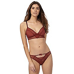 Nine by Savannah Miller - Dark orange lace non-padded bralette