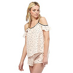 Nine by Savannah Miller - Pink spot print camisole