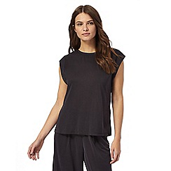 Nine by Savannah Miller - Black super-soft luxury cap sleeve top