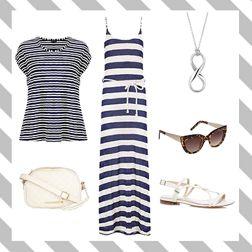 Holiday Style Sunset Stripes