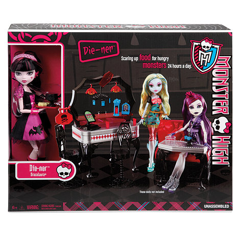 Monster High - Die-Ner And Draculaura Playset And Doll