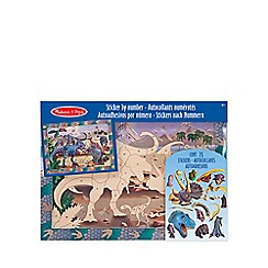 Melissa & Doug - Peel & Press Sticker By Number - Dinosaur Dusk