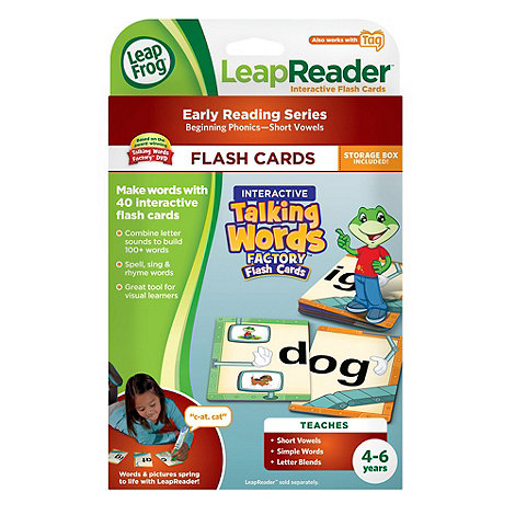 LeapFrog - LeapReader Flash Cards : Interactive Talking Words Factory
