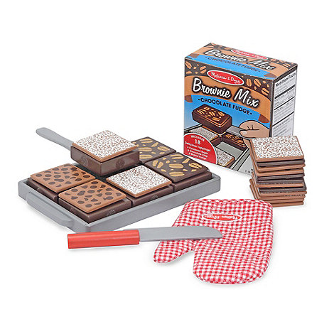 Melissa & Doug - Wooden Brownie Cake Role Play Set