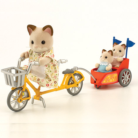 Sylvanian Families - Tandem Bike and Baby Trailer