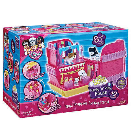 Puppy In My Pocket - So Soft Party +n+ Play House Playset