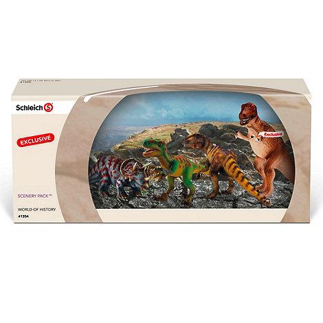 Schleich - Dinosaur Set - T-Rex, Triceratops, Velociraptor, Allosaurus