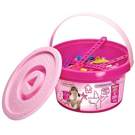 Meccano - Construction pink bucket - 100 Pieces
