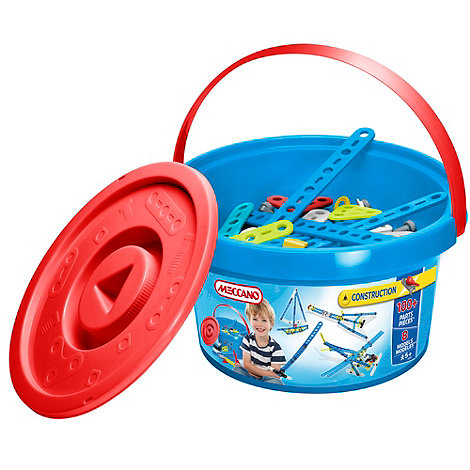 Meccano - Construction blue bucket - 100 Pieces