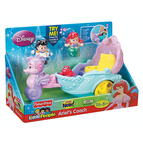 Disney Princess - Fisher Price Little People Ariels Coach