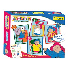 Paddington Bear - 4 in 1 Puzzle