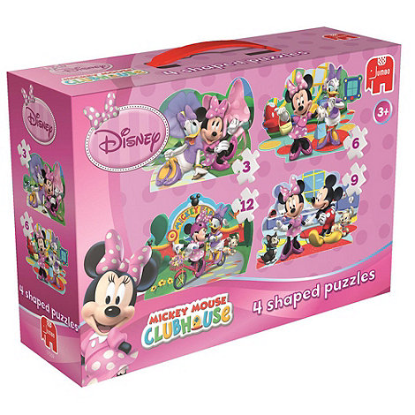 Minnie Mouse - 4 in 1 Shaped Jigsaw Puzzle
