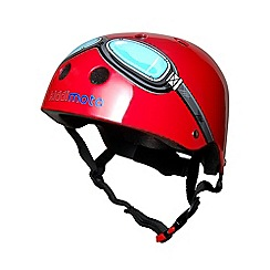 kiddimoto - Helmet 2 Years+ Red Goggle