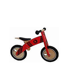 kiddimoto - Wooden Kurve Balance Bike - Red Tyre