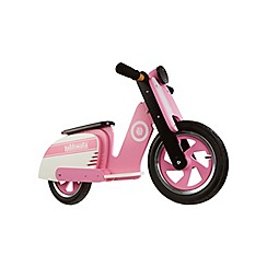 kiddimoto - Wooden Scooter Style Balance Bike - Bright Pink