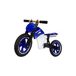 kiddimoto - Wooden Scrambler Balance Bike-Blue