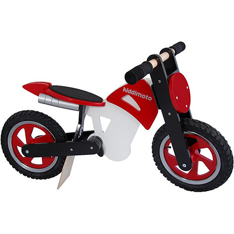 kiddimoto - Wooden Scrambler Balance Bike - Red