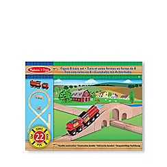 Melissa & Doug - Wood Figure Of 8 Train Set