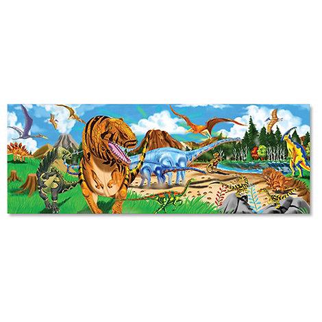 Melissa & Doug - Land Of Dinosaurs Giant Puzzle (127X46Cm) 48Pce