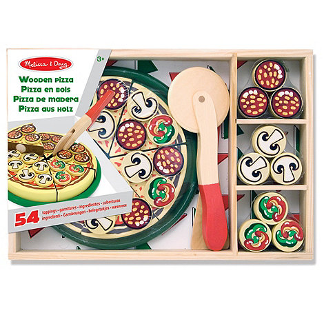 Melissa & Doug - Wooden Pizza Party Set