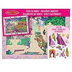 Melissa & Doug - Peel & Press Sticker By Number - Fairy Tale Princess