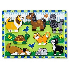Melissa & Doug - Chunky Wooden Puzzle - Pets