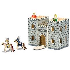 Melissa & Doug - Fold & Go Wooden Castle