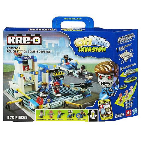 Kre-o - Cv Police Station Zombie Defence (Sm Brick)