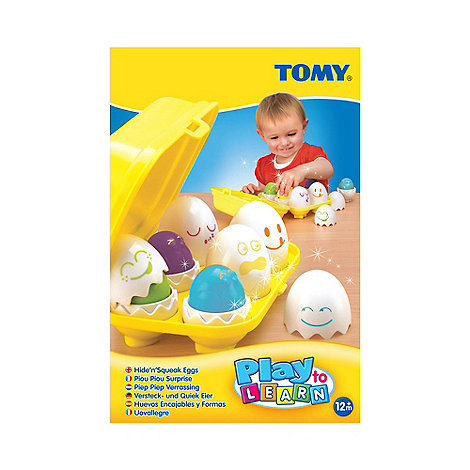 Tomy - Play to Learn+ hide and squeak eggs