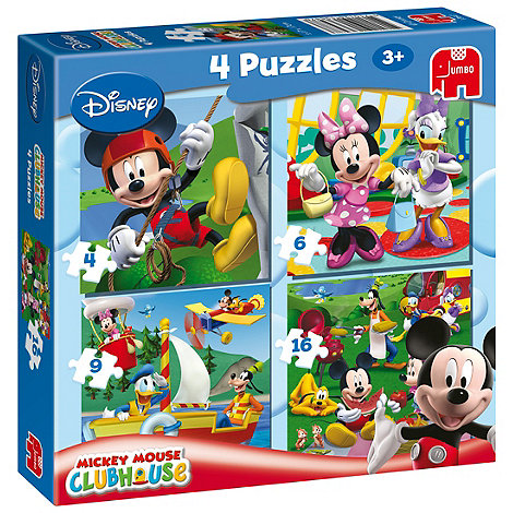 Mickey Mouse Clubhouse - 4 in 1 puzzle