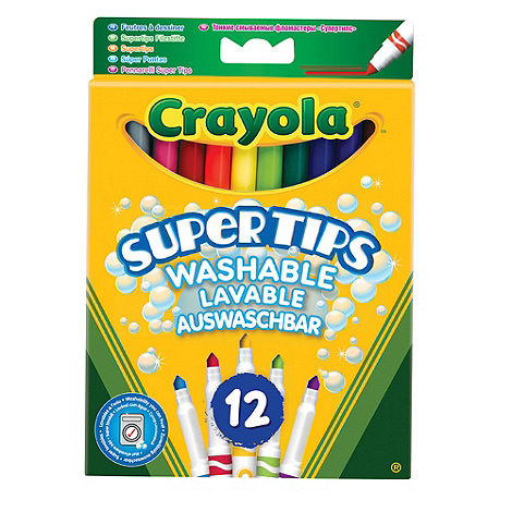 Crayola - 12 bright colour supertips pens