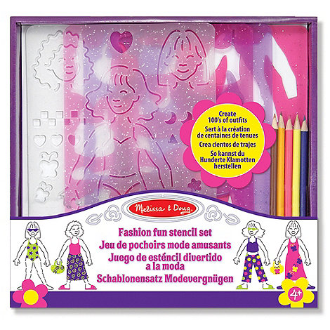 Melissa & Doug - Fashion Stencil Set