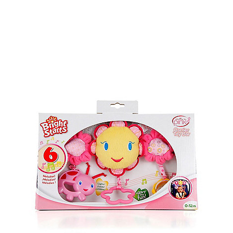 Bright Starts - Pink carrier toy bar