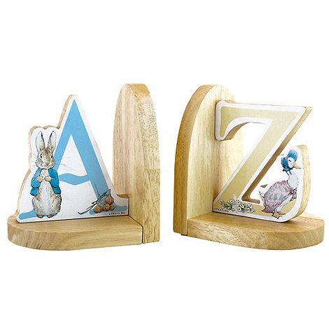 Beatrix Potter - Wooden book ends