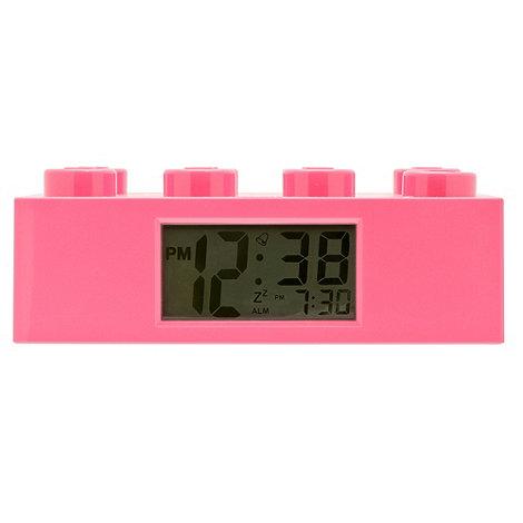 LEGO - Pink 8 stud brick alarm clock
