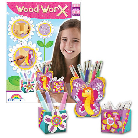 Wood Worx - Stationery holder trio