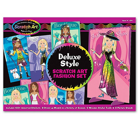 Melissa & Doug - Deluxe Scratch Art Fashion Set