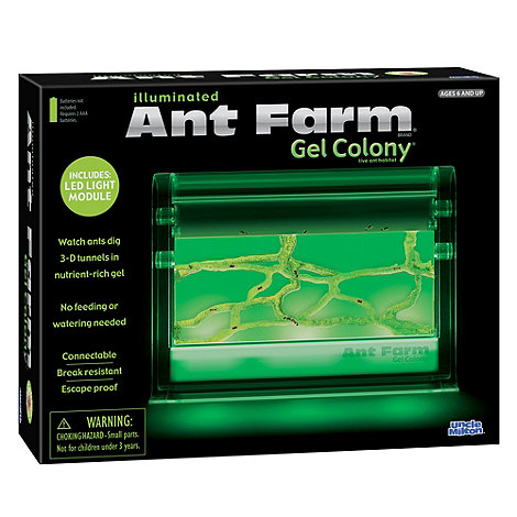 Uncle Milton - Illuminated Ant Farm Gel Colony