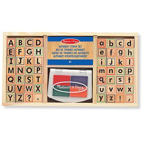 Melissa & Doug - Alphabet Stamp Set